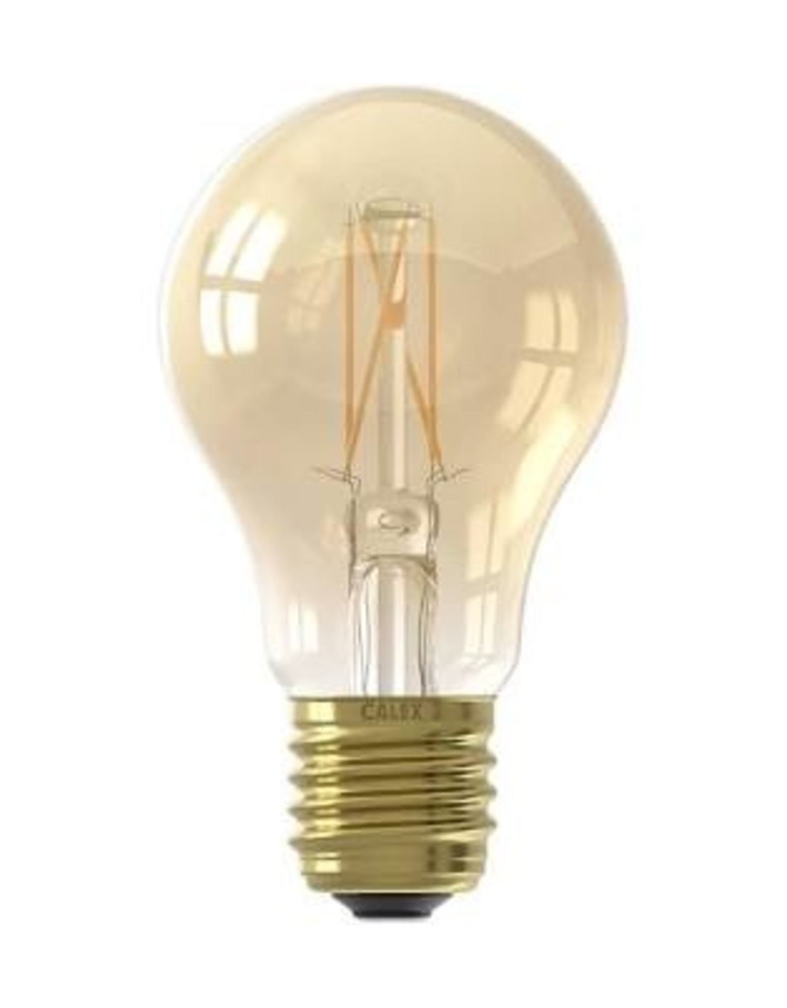 Calex LED Full Glass Filament GLS-lamp 220-240V 4W 310lm E27 A60, Gold 2100K CRI80 Dimmable, energy label A+