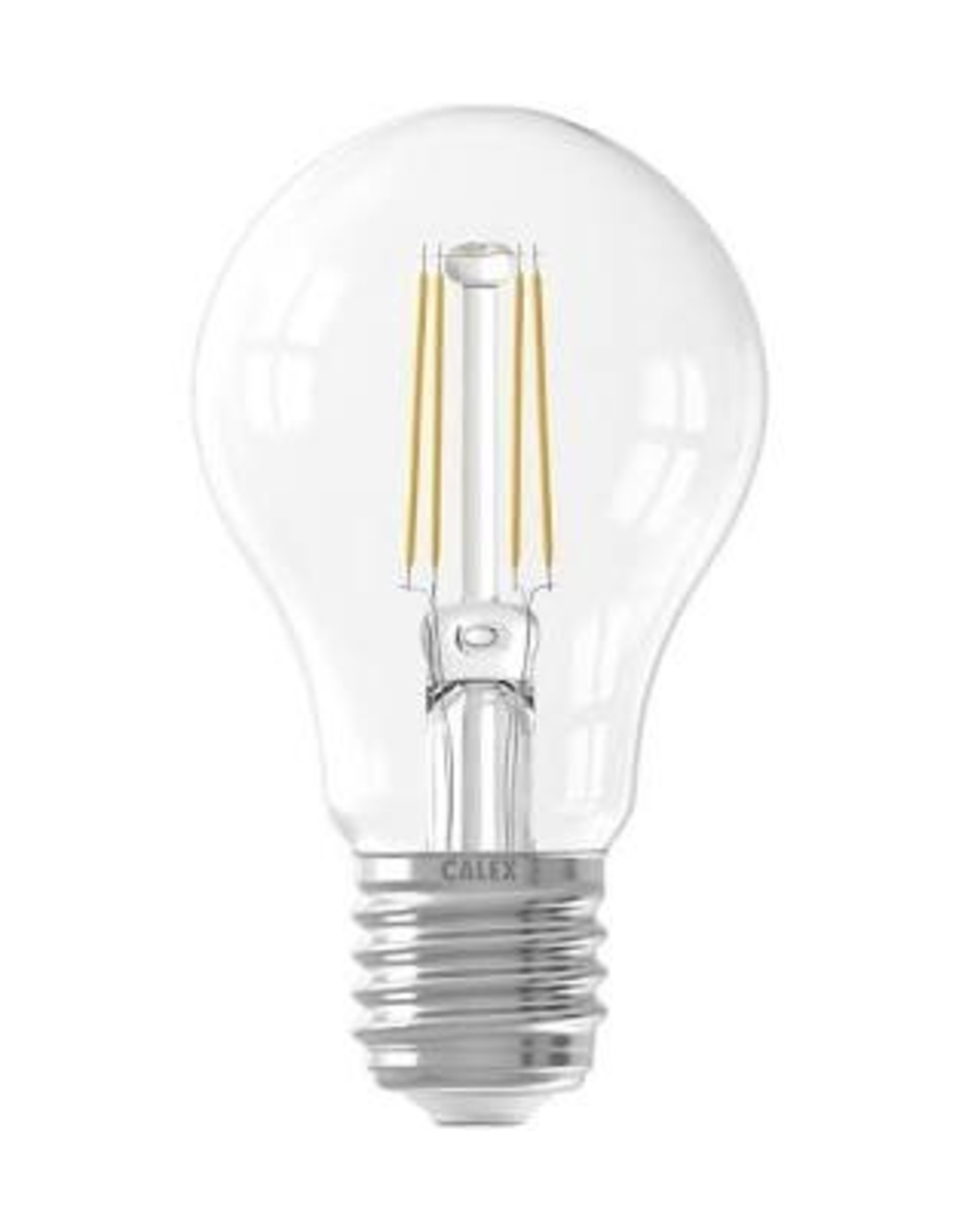 Calex LED Full Glass Filament GLS-lamp 220-240V 4W 390lm E27 A60, Clear 2700K CRI80 Dimmable, energy label A++