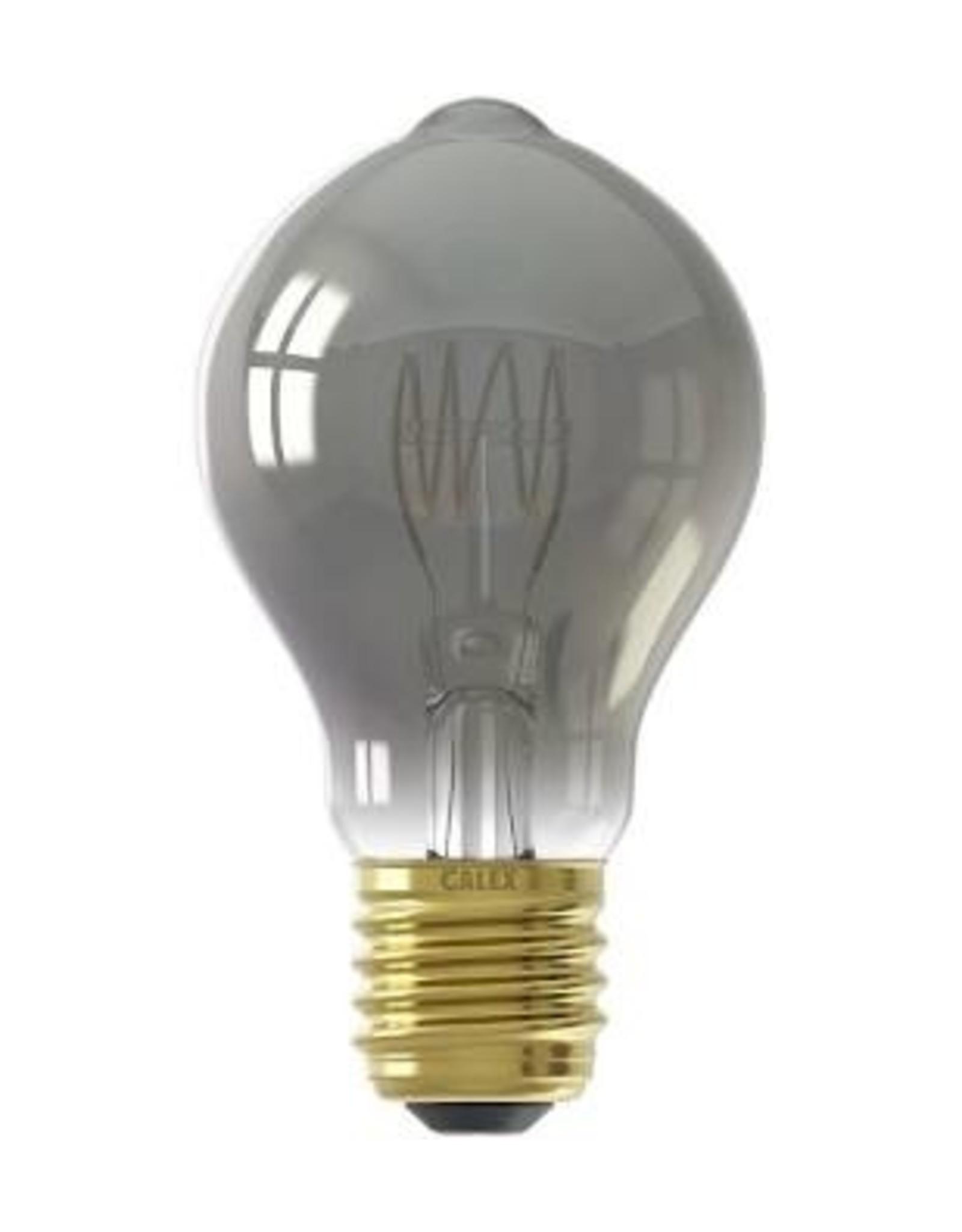 Calex LED Full Glass Flex Filament GLS-lamp 220-240V 4W 100lm E27 A60DR, Titanium 2100K Dimmable, energy label B
