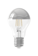 Calex LED Full Glass Filament GLS-lamp Top-mirror 220-240V 4W 300lm E27 A60, Chrome 2300K CRI80 Dimmable, energy label A+