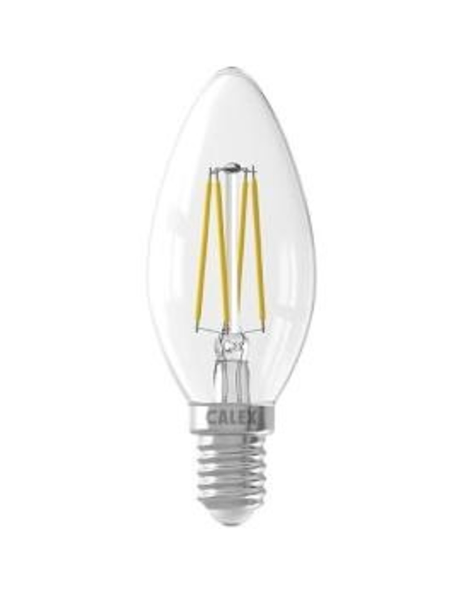 Calex LED Full Glass Filament Candle-lamp 220-240V 3,5W 350lm E14 B35, Clear 2700K CRI80 Dimmable, energy label A++