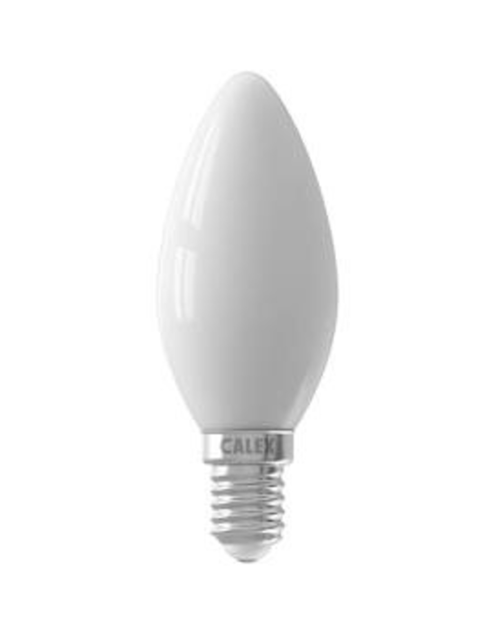 Calex LED Full Glass Filament Candle-lamp 220-240V 3,5W 290lm E14 B35, Softline 2700K CRI80 Dimmable, energy label A+