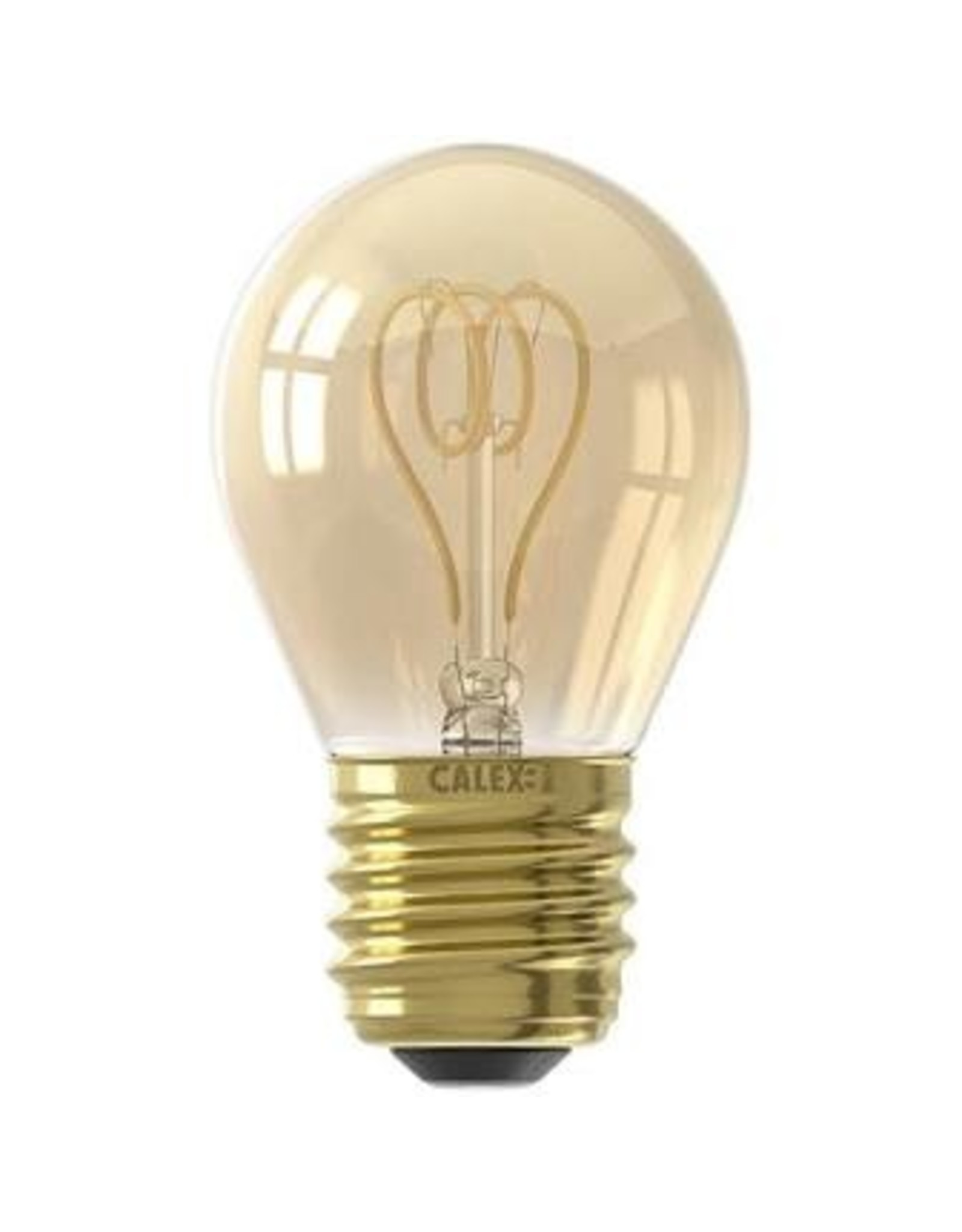 Calex LED Flex Filament Ball lamp P45 220-240V 4W E27 120lm 2100K Gold, dimmable, energy label B