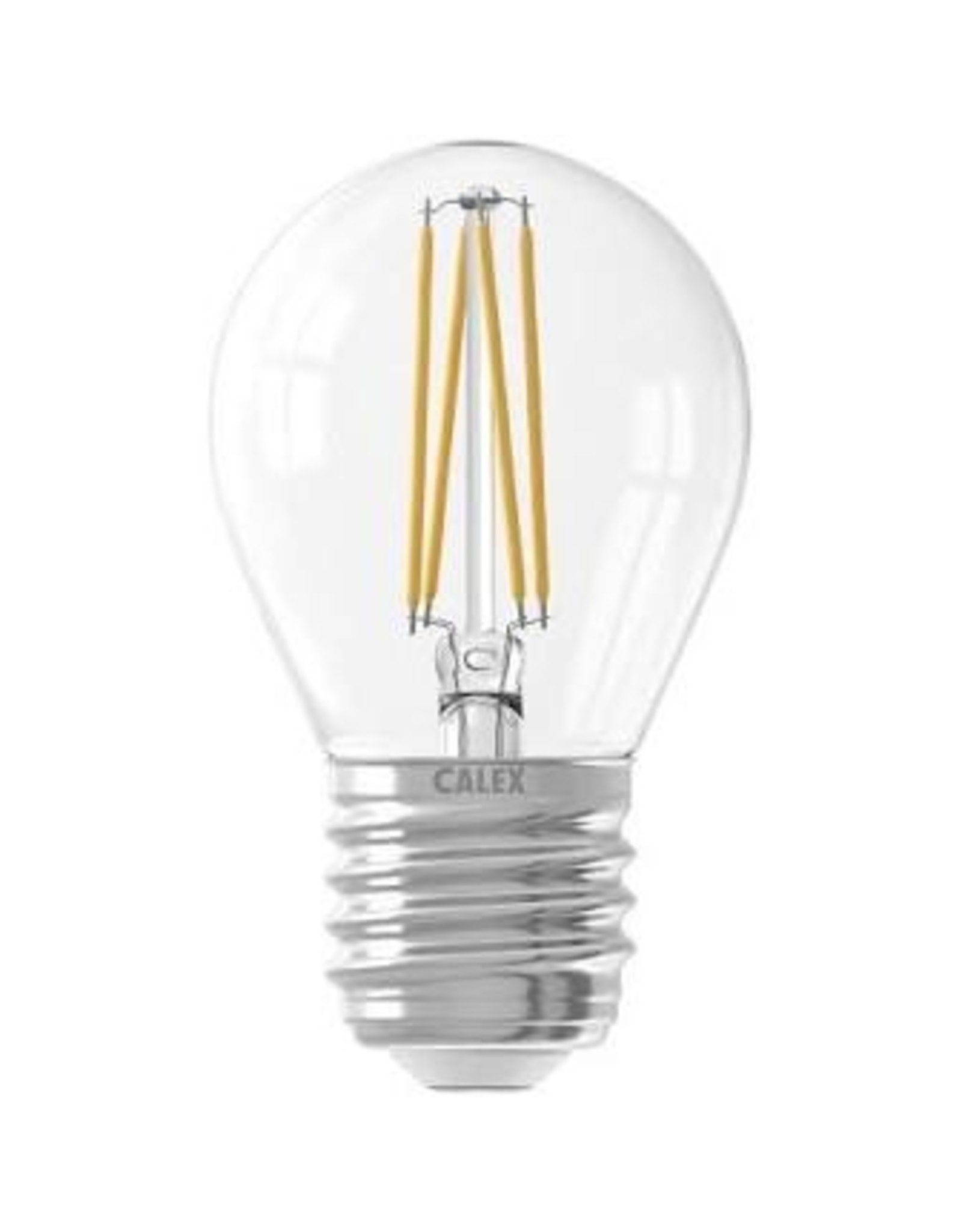 Calex LED Full Glass Filament Ball-lamp 220-240V 3,5W 350lm E27 P45, Clear 2700K CRI80 Dimmable, energy label A++