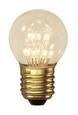 Calex Pearl LED Ball lamp 220-240V 1,0W E27 P45, 14-leds 2100K, energy label A++