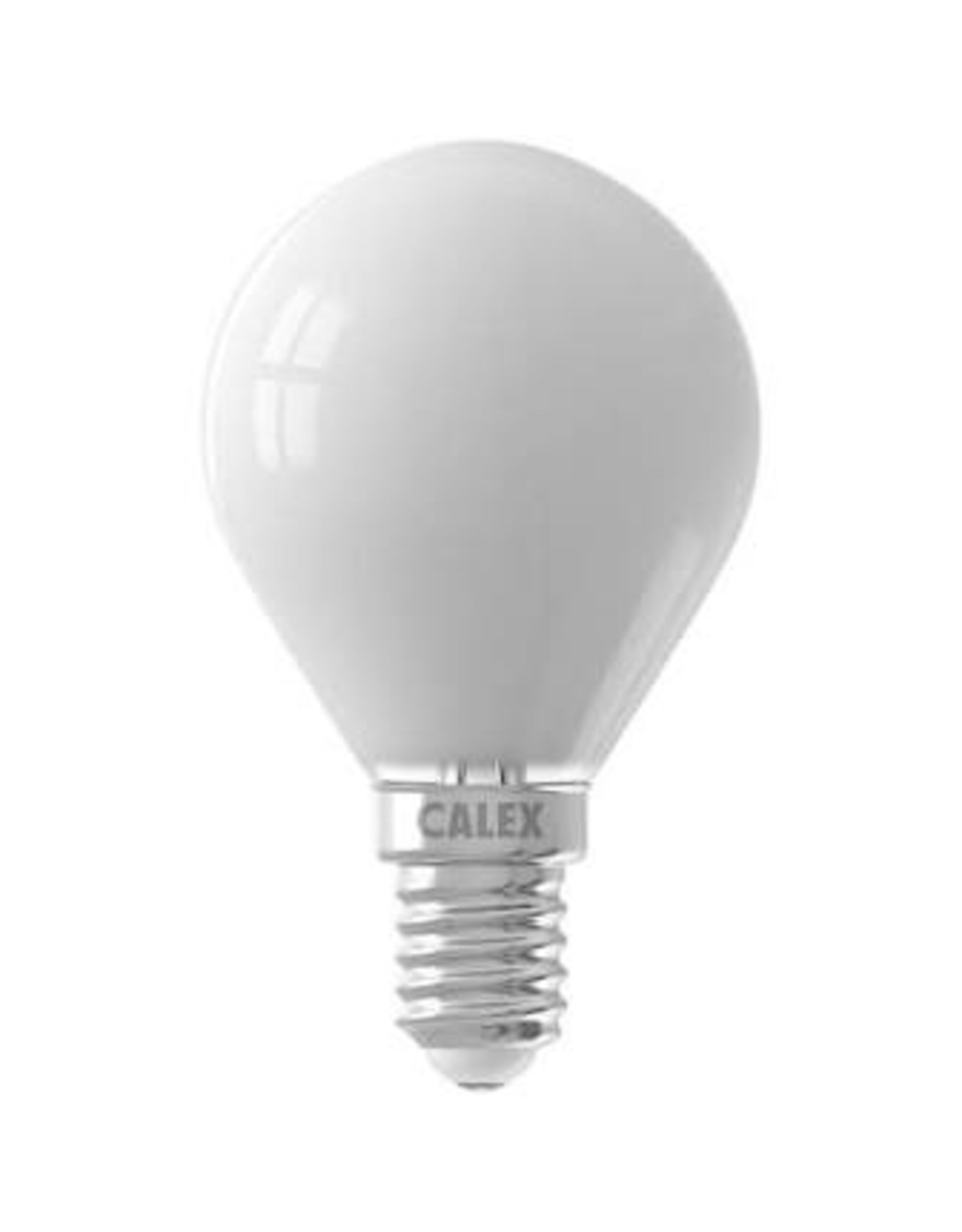 Calex LED Full Glass Filament Ball-lamp 220-240V 3,5W 350lm E14 P45, Softline 2700K CRI80 Dimmable, energy label A++