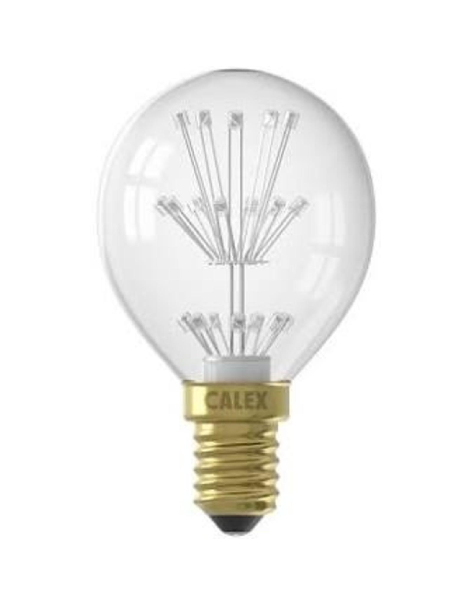 Calex Pearl LED Ball lamp 220-240V 1,0W E14 P45, 20-leds 2100K, energy label A++