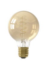 Calex LED Flex Filament Globe lamp G80 220-240V 4W E27 200lm 2100K Gold, dimmable, energy label A