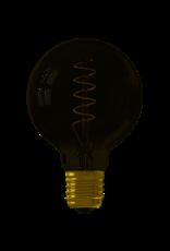 Calex LED Flex Filament Globe lamp G80 220-240V 4W E27 100lm 2100K Titanium, dimmable, energy label B