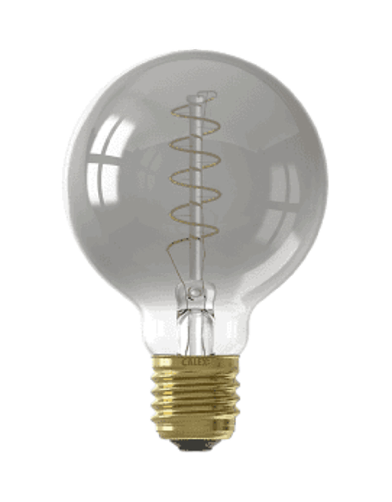 Calex LED Flex Filament Globe lamp G95 220-240V 4W E27 100lm 2100K Titanium, dimmable, energy label B