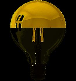 Calex LED E27 kopspiegel globe 95mm goud 280lm