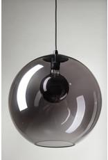 Orb hanglamp 1x E27 smoke glas 30cm / zwart