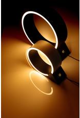 The Q tafellamp led zwart 12w dimbaar 3000k dia 20cm