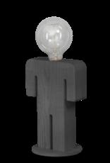 Adam Grey tafellamp man 24cm 1x E27 hout grijs