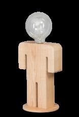 Adam tafellamp man 24cm 1x E27 hout