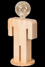 Adam XL tafellamp man 36cm 1x E27 hout