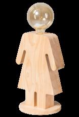 Eve XL tafellamp vrouw 36cm 1x E27 hout