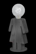 Eve Grey tafellamp vrouw 24cm 1x E27 hout grijs