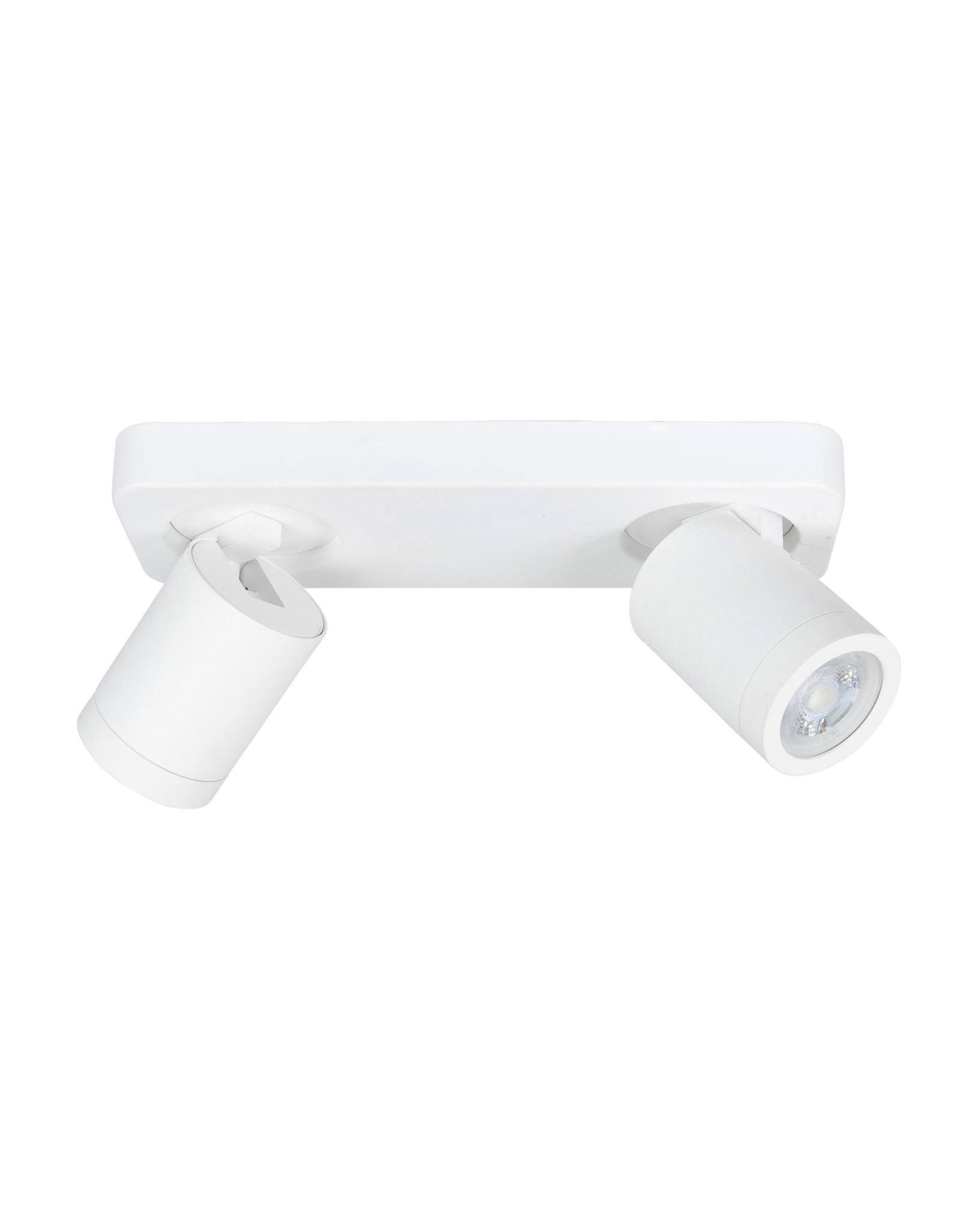 Oliver spot 2 X  GU10 LED IP44 balk Mat Wit zonder lampen