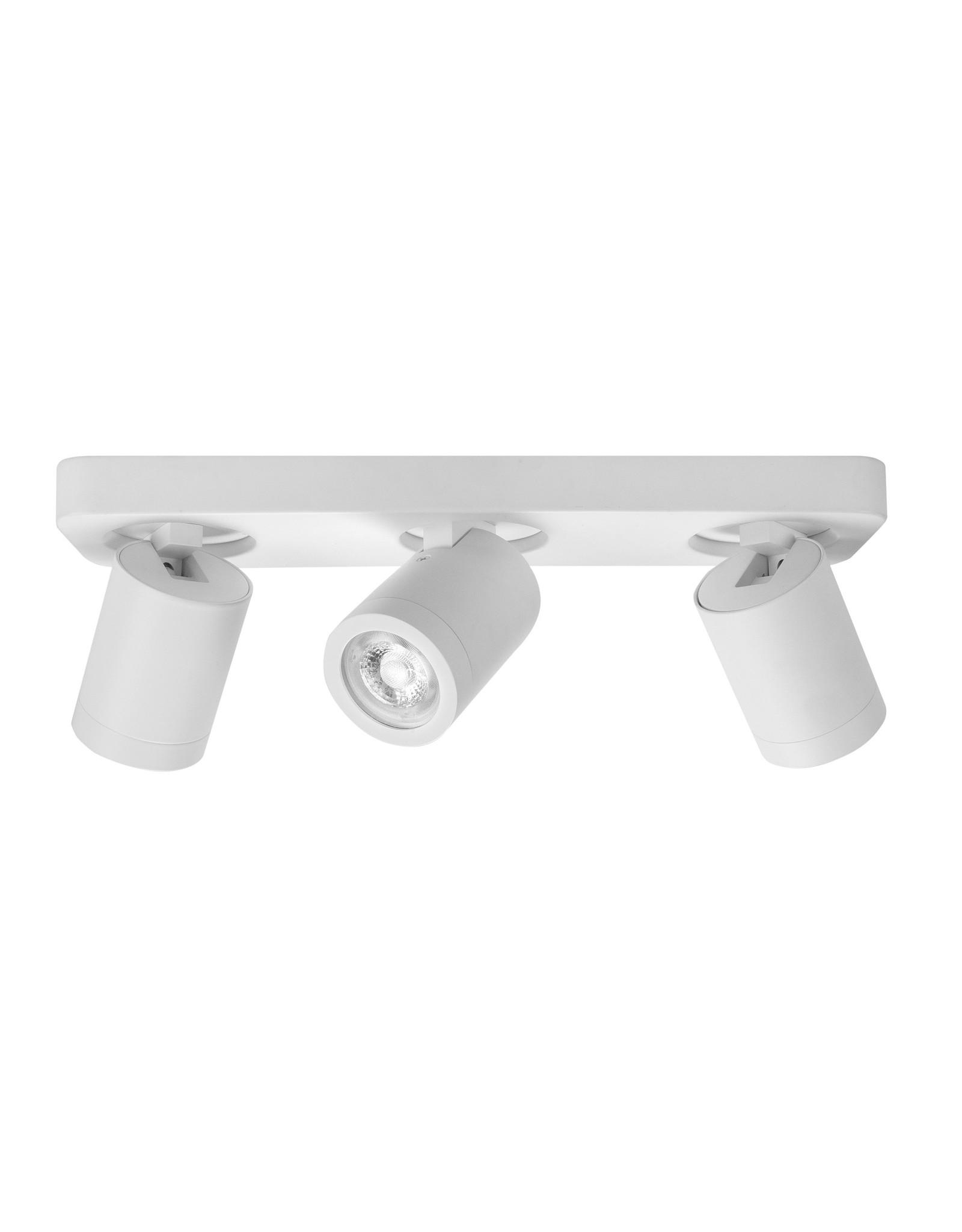 Oliver spot 3 X  GU10 LED IP44 balk Mat Wit zonder lampen