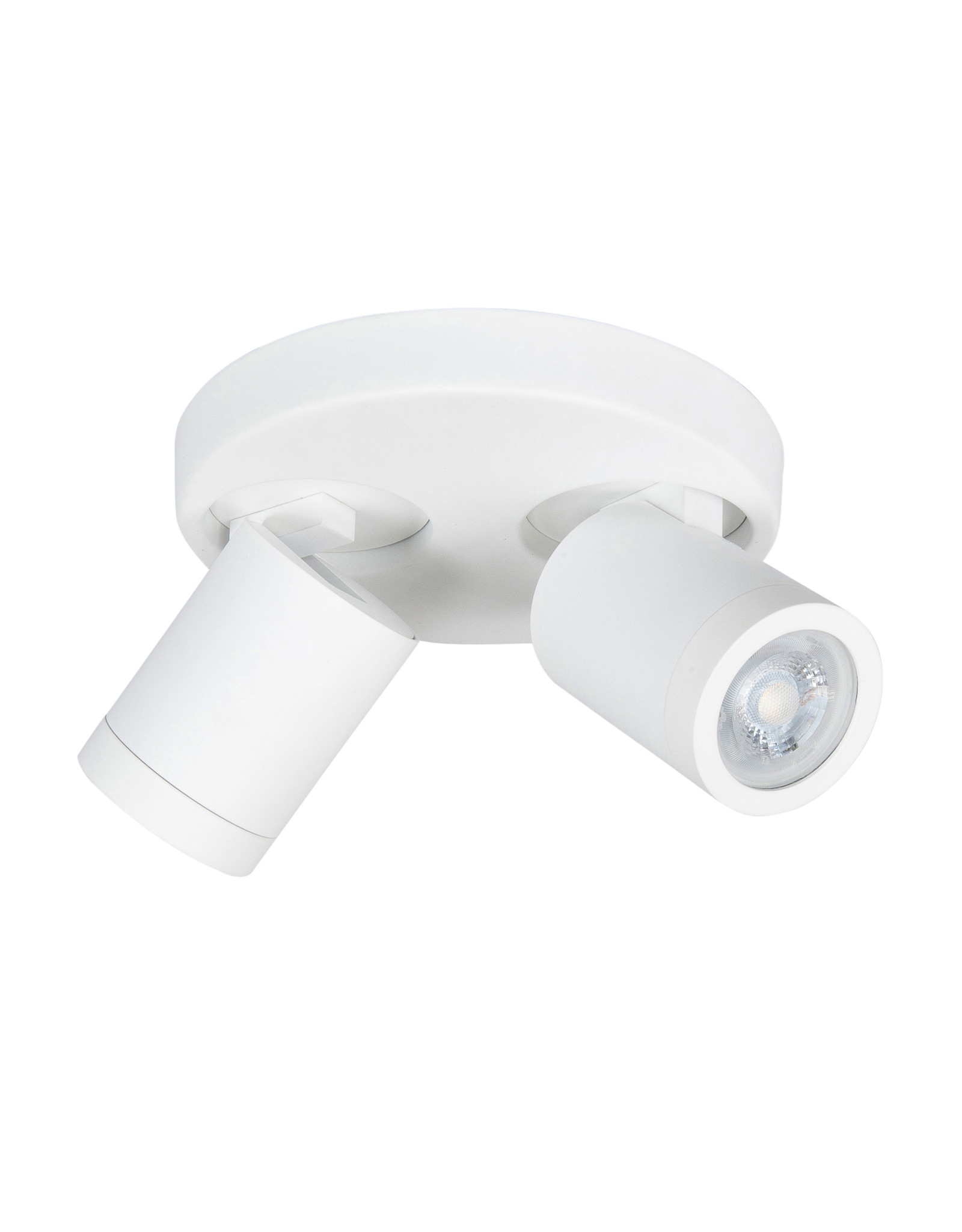 Oliver spot 2 X  GU10 LED IP44 rond Mat Wit zonder lampen