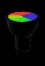 Calex Smart LED Reflector-lamp GU10 220-240V 5W 350lm 2200-4000K+RGB, energy label A+