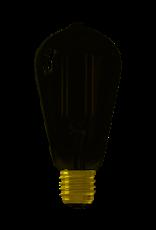 Calex Calex Smart LED Filament Smokey Rustieklamp ST64 E27 220-240V 7W 400lm 1800-3000K, Golden cap