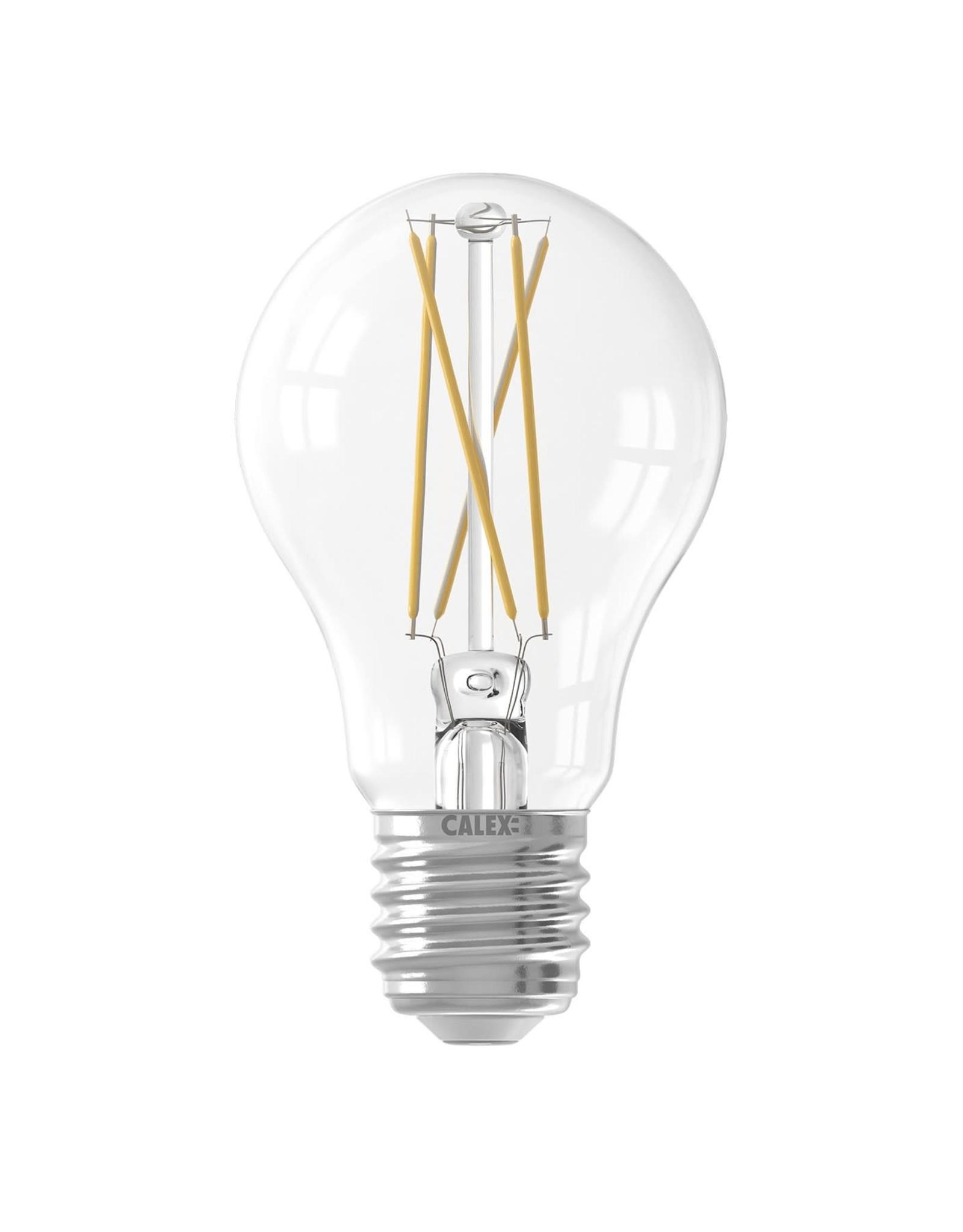 Calex Calex Smart LED Filament Helder Standaardlamp A60 E27 220-240V 7W 806lm 1800-3000K