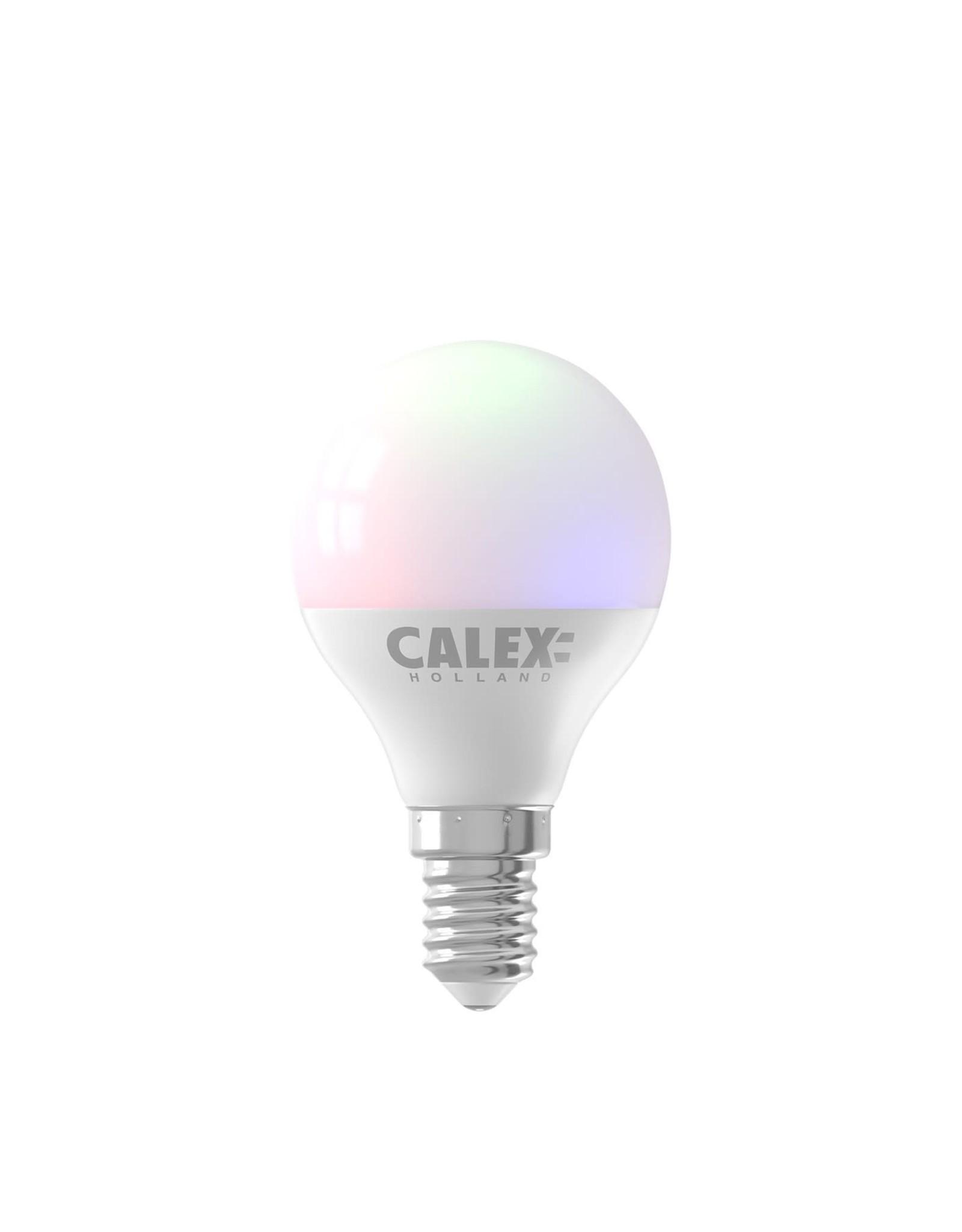 Calex Calex Smart LED Kogellamp P45 E14 220-240V 5W 470lm 2200-4000K + RGB