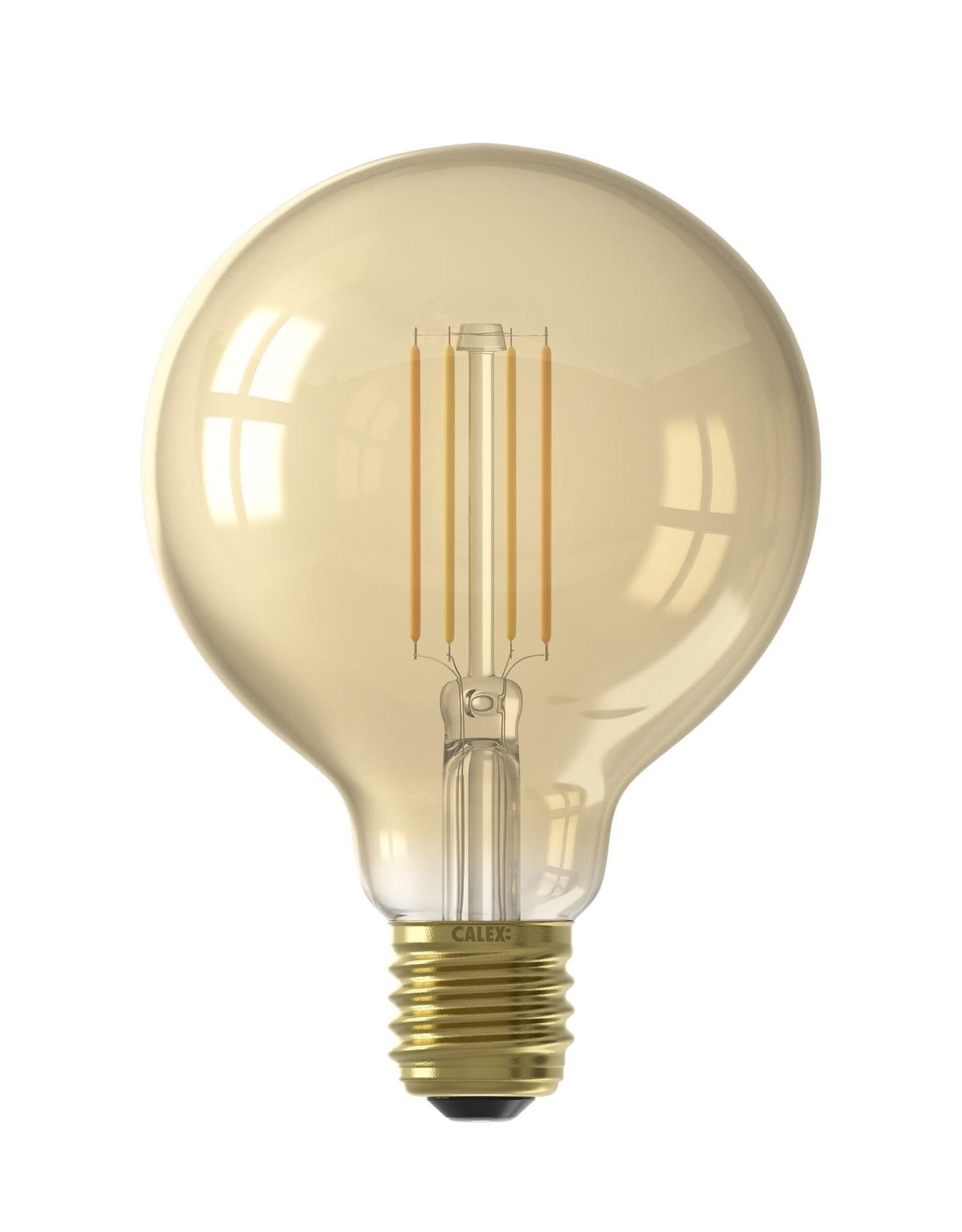 Calex Calex Smart LED Filament Goud Globelamp G95 E27 220-240V 7W 806lm 1800-3000K