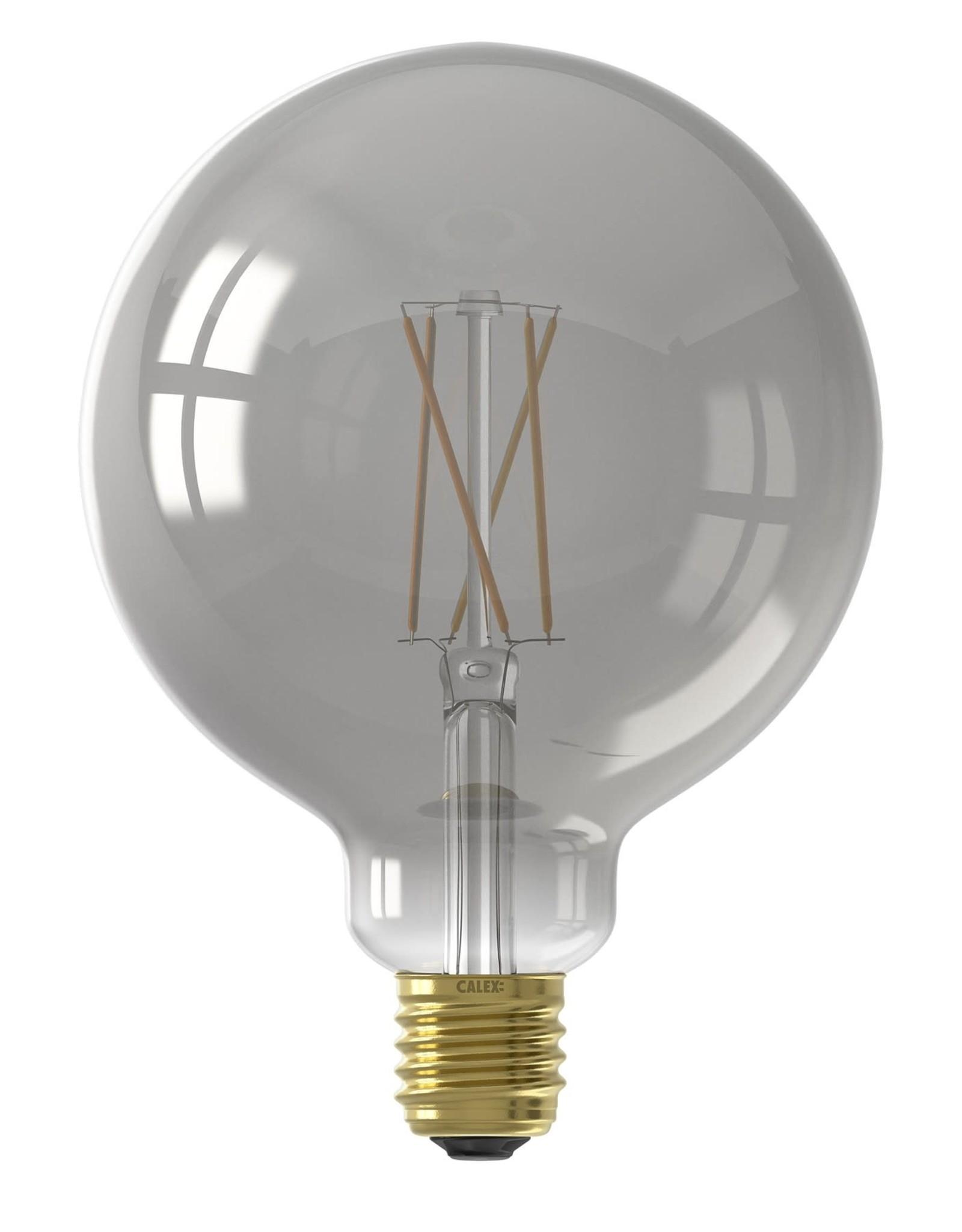 Calex Calex Smart LED Filament Smokey Globelamp G125 E27 220-240V 7W 400lm 1800-3000K, Golden cap