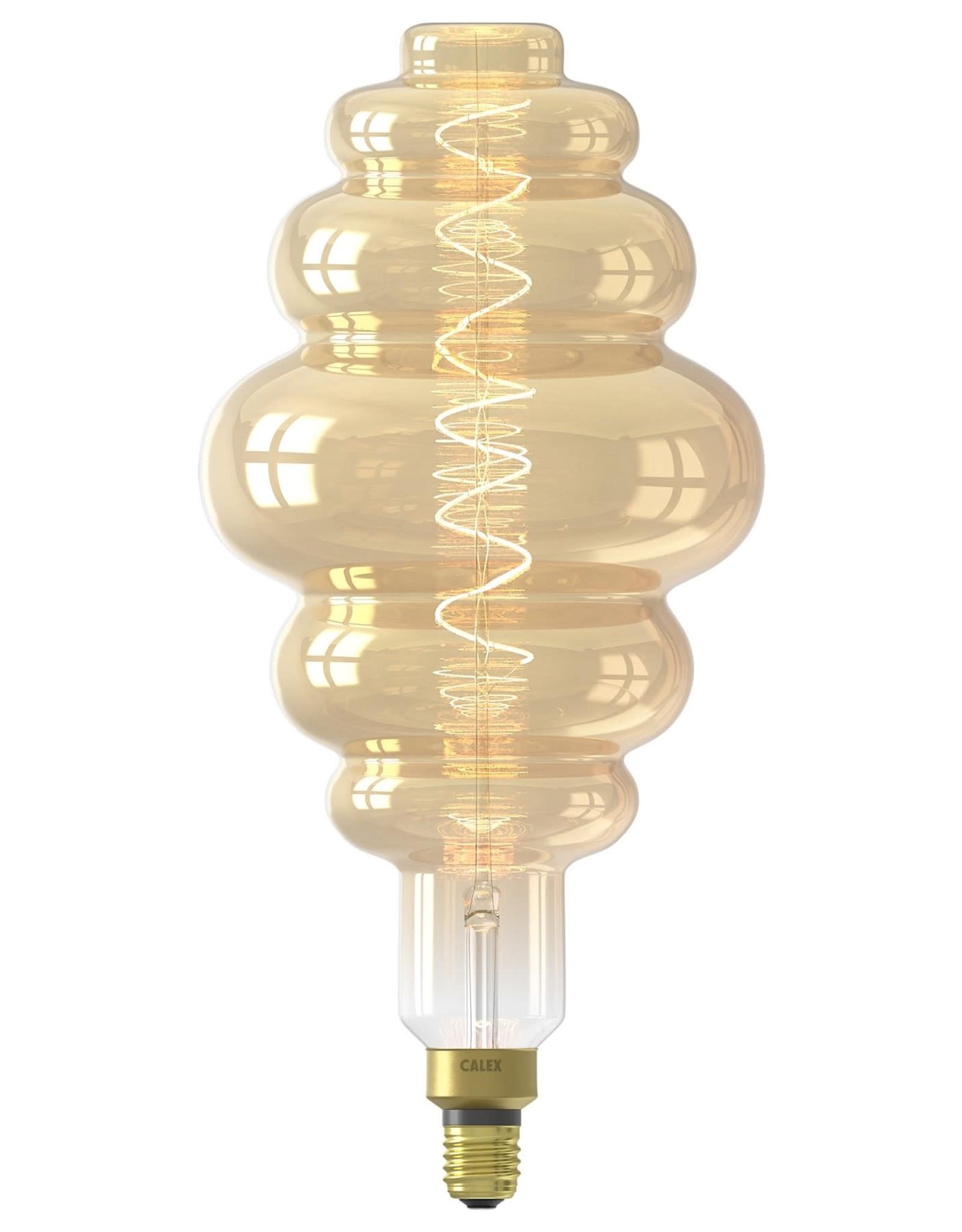 Calex XXL Paris LED Lamp 220-240V 6W 350lm E27 LS200, Gold 2200K dimmable, energy label A
