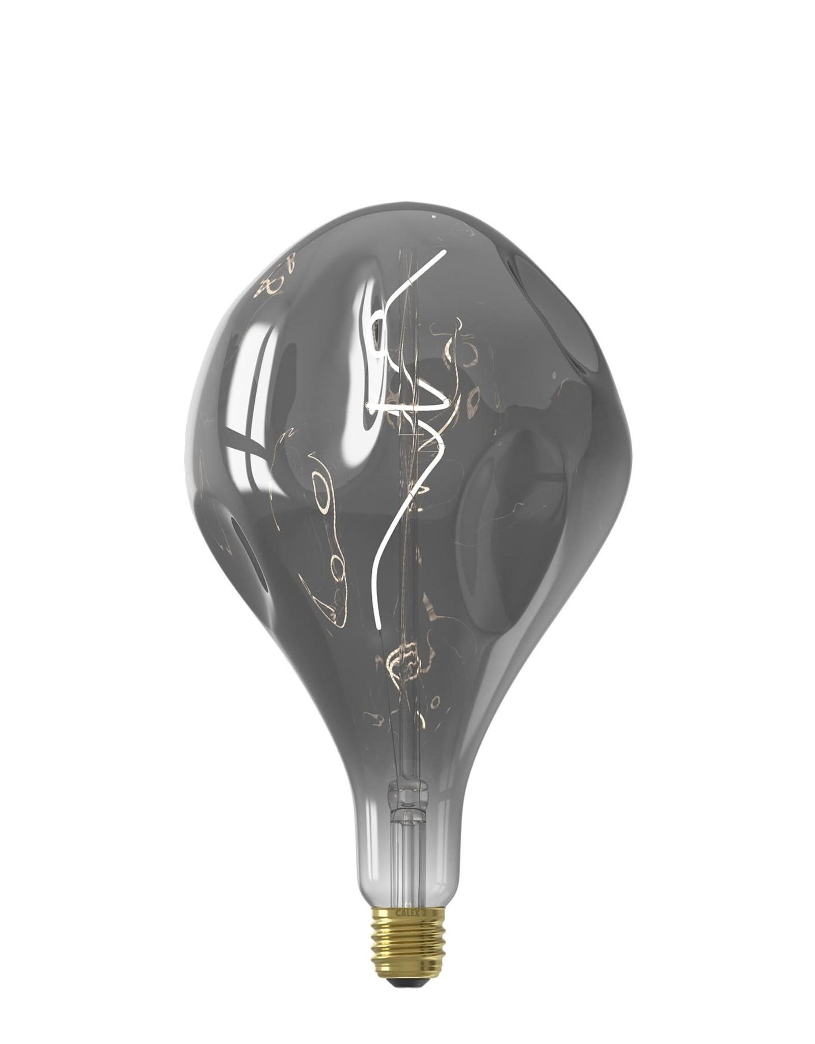Calex XXL Organic EVO LED Lamp 220-240V 6W 130lm E27 PS165, Titanium 2100K dimmable, energy label B