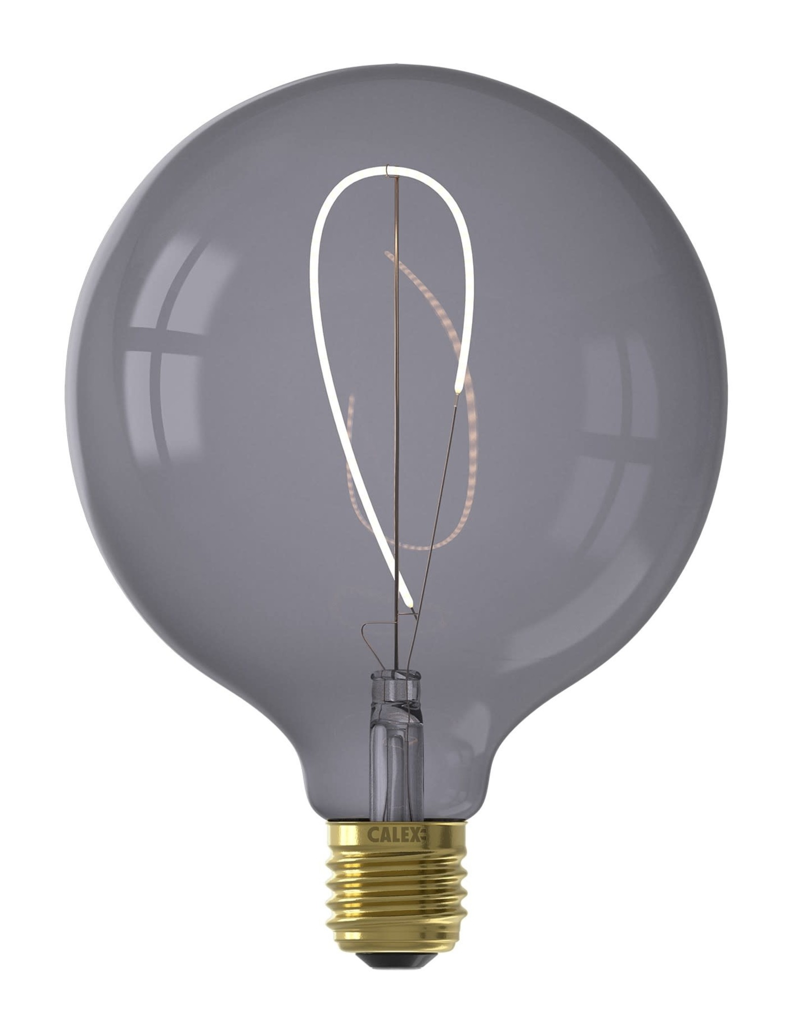 Calex NORA LED colors Globe G125 soft U-filament 220-240V 4W E27, Topaz Grey 2200K dimmable, energy label B