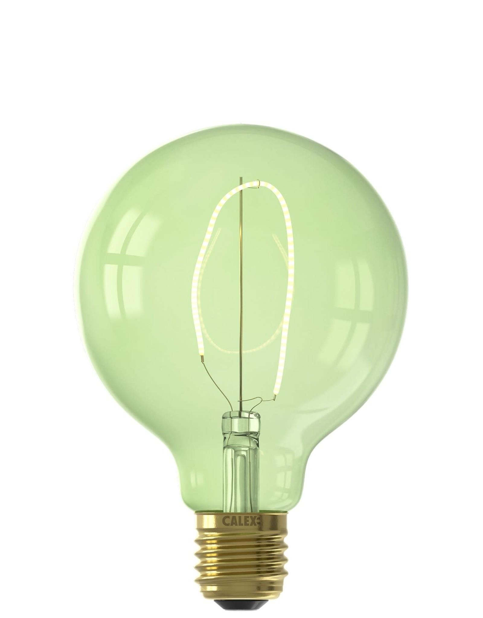 Calex NORA LED colors Globe G95 soft U-filament 220-240V 4W E27, Emerald Green 2200K dimmable, energy label B