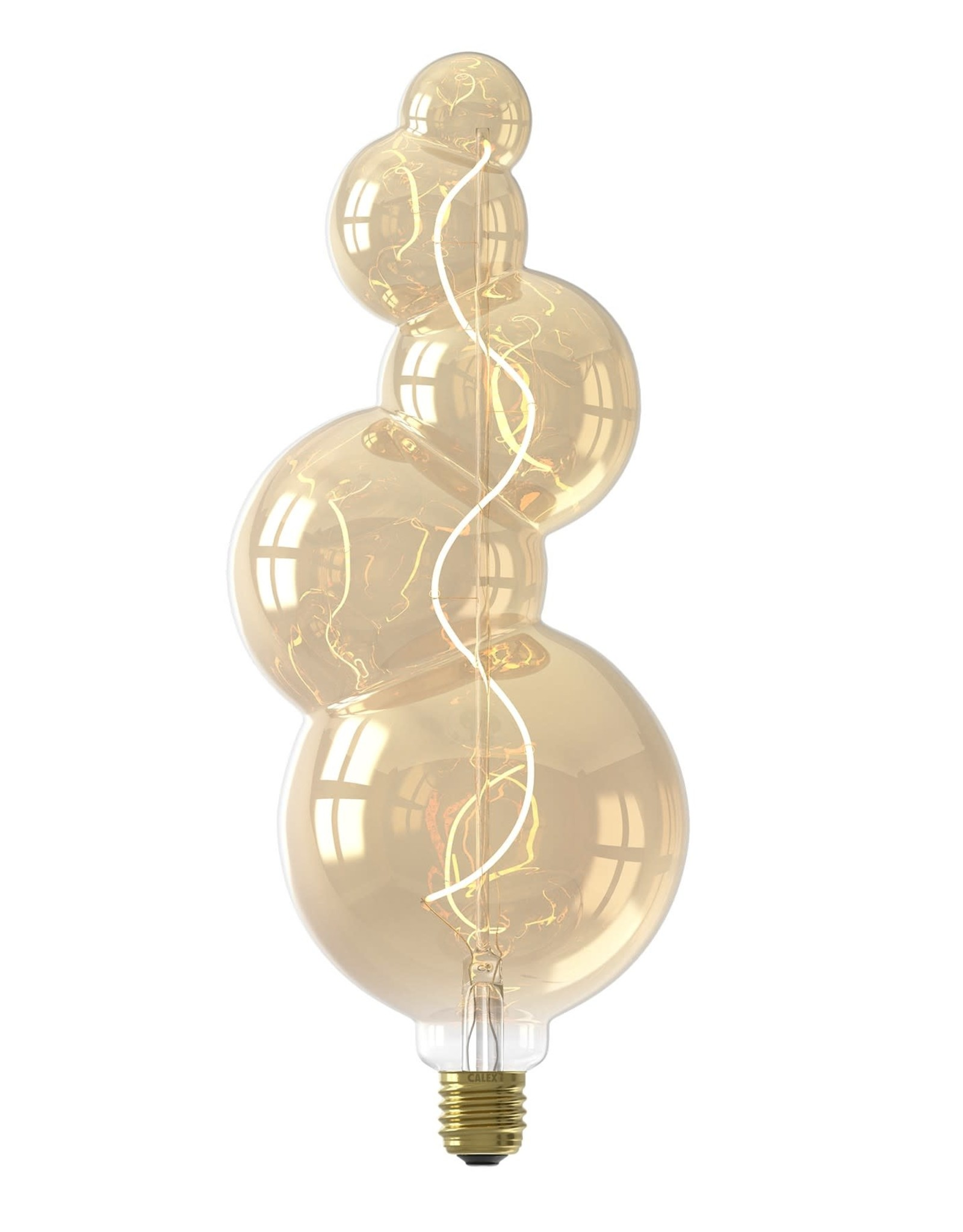 Calex Alicante LED Lamp 220-240V 4W 130lm E27, Gold 2100K dimmable, energy label B