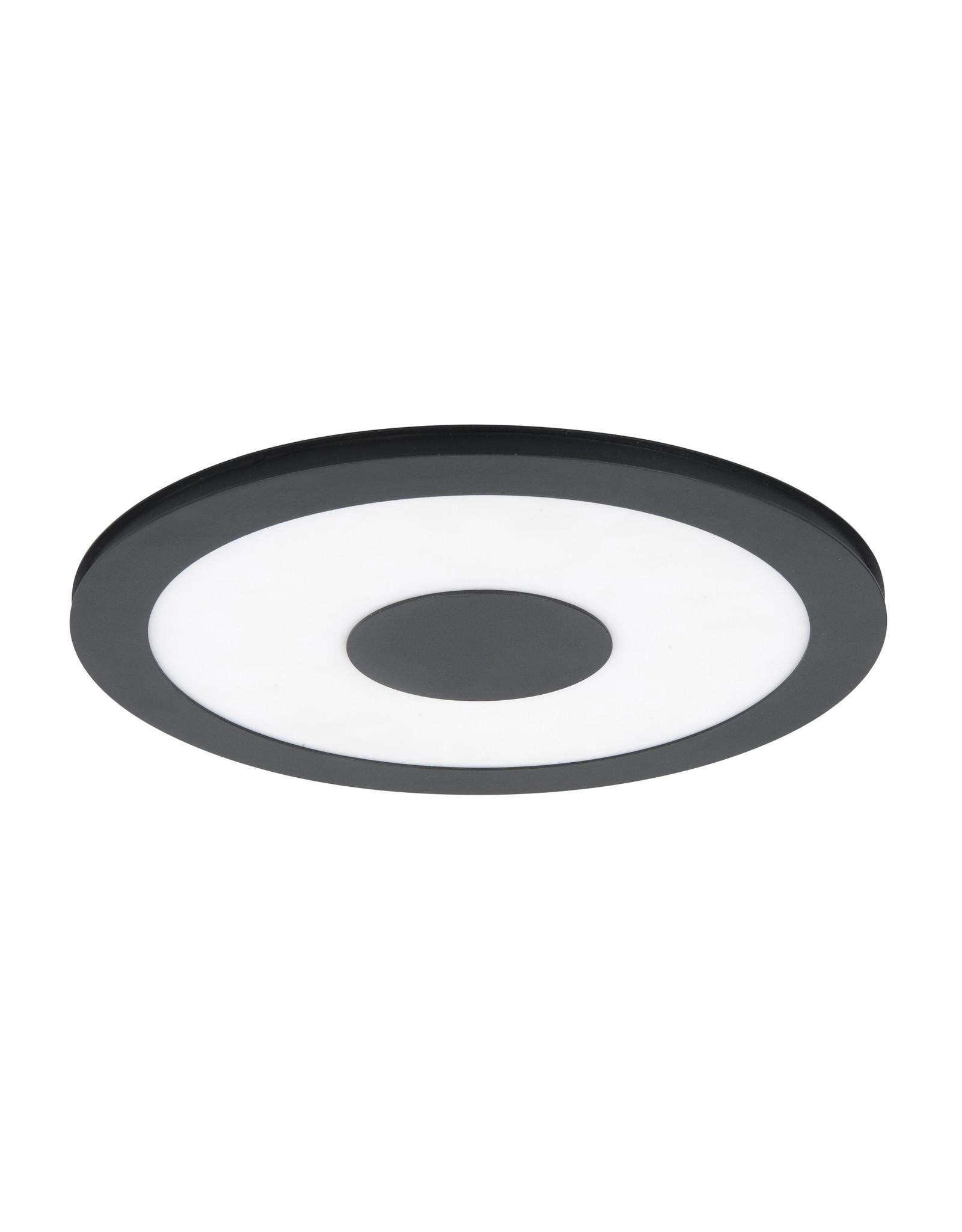 Pl. Black Sun 26cm. 16W 2700K LED + 3 stappendimmer