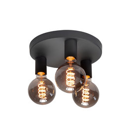 Plafondlamp Basic 3x E27 Zwart Mat