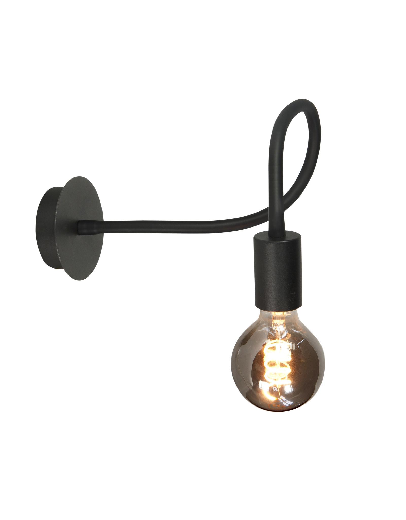 Wl.  Flex E27 Mat Zwart met Alu lamphouder