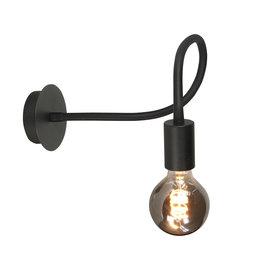 Wandlamp Flex E27 Mat Zwart