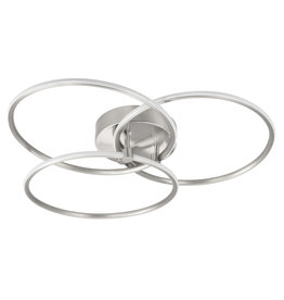 Plafondlamp Circles Nikkel Mat