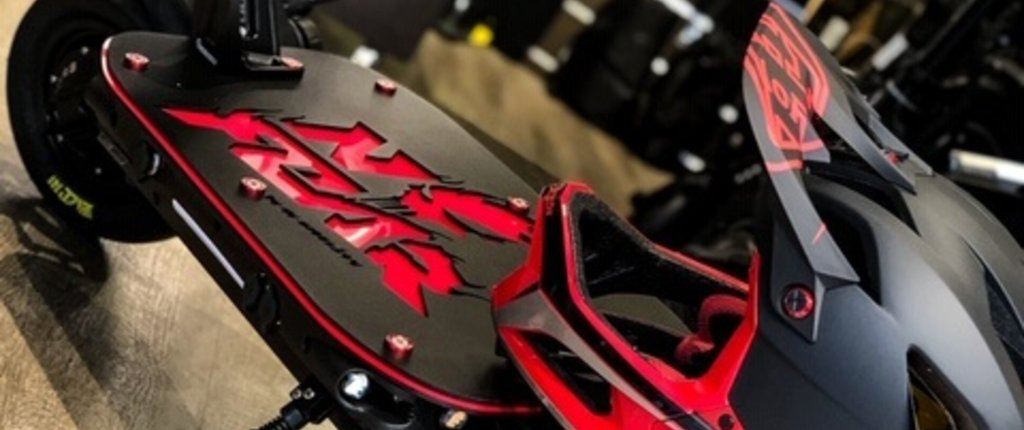 Dualtron Thunder Customisation: NO FEAR Water Red