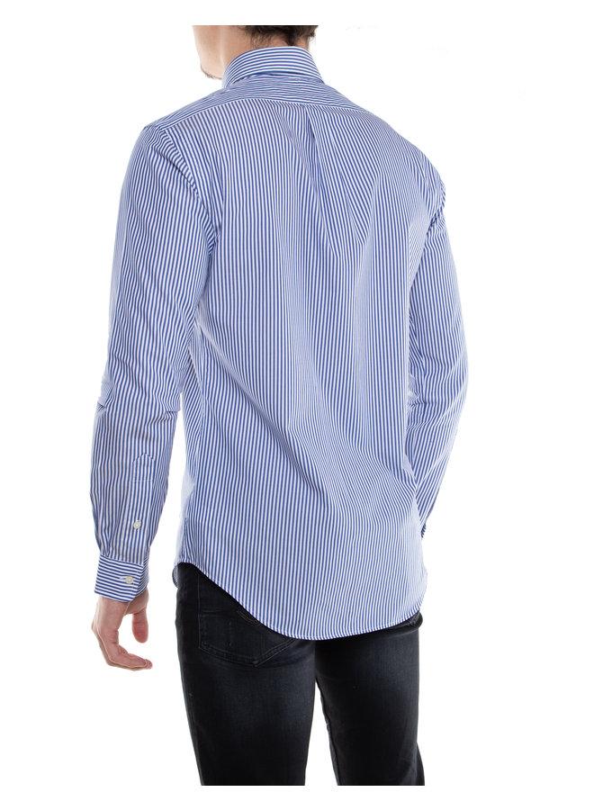 Chemise lignée bleue