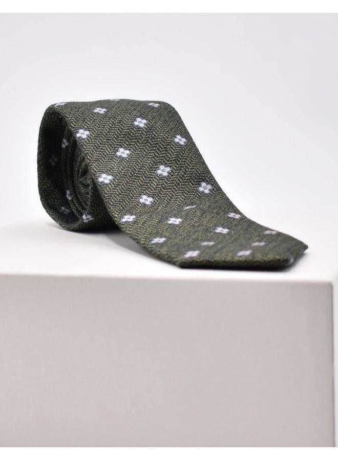 Cravate à fleurs verte