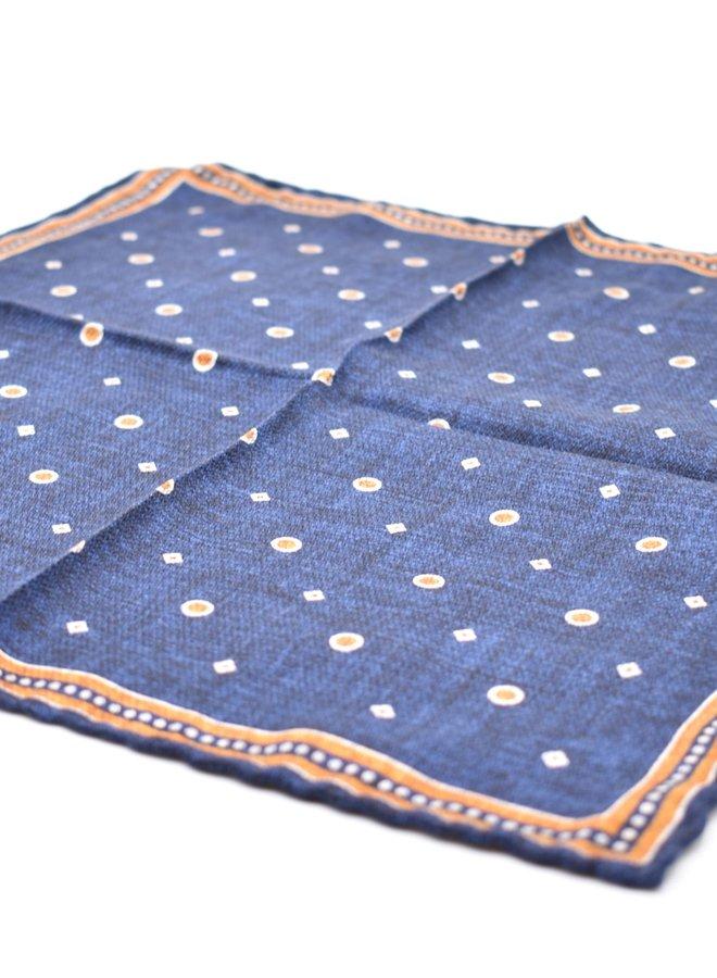 Pochette bleue à motifs