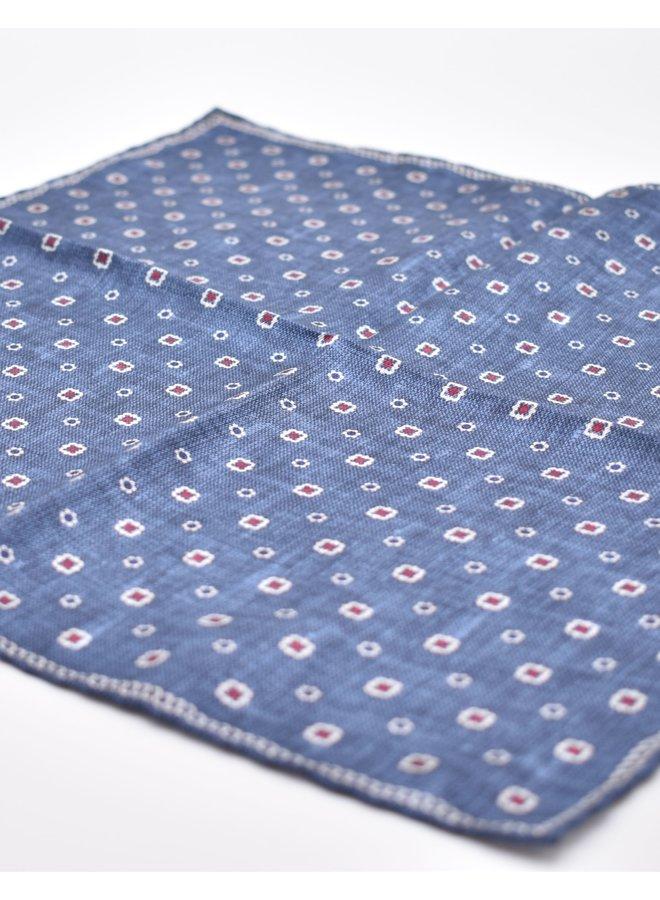 Pochette bleue en soie