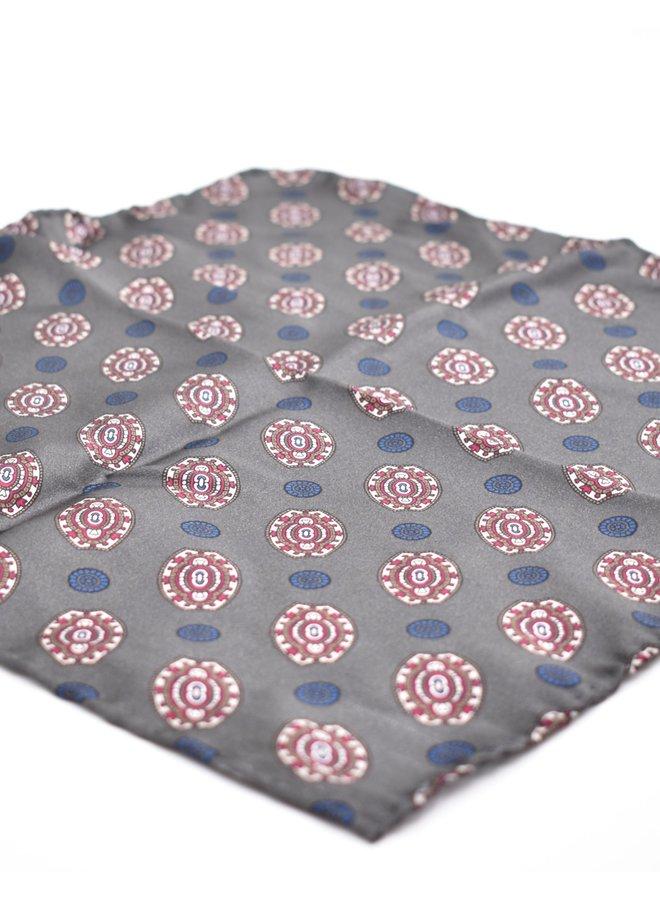 Pochette grise à motifs