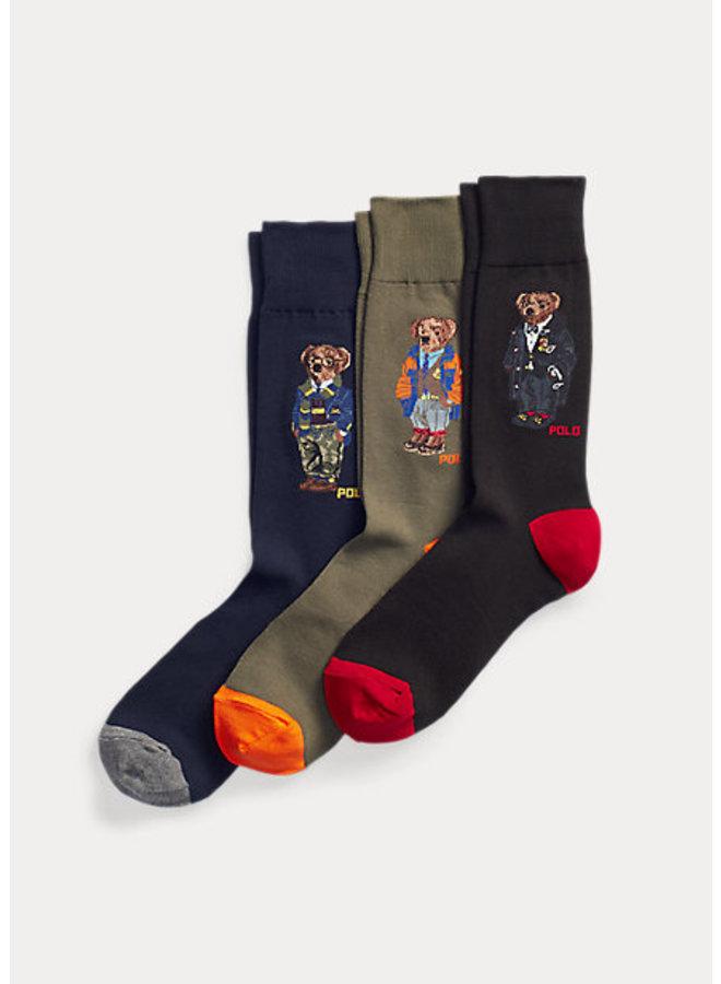 Coffret de chaussettes sport Polo Bear