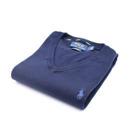 "Ralph Lauren Col ""V"" Navy (PIMA Cotton)"