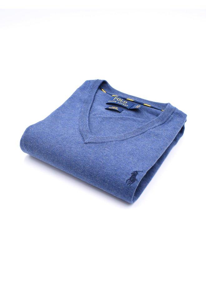 "Col ""V"" Bleu (PIMA Cotton)"